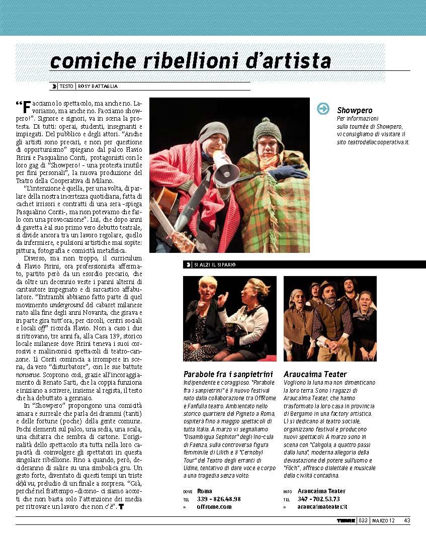 Terre di mezzo street magazine - Showpero - rosybattaglia