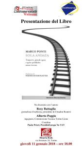 Locandina Binaria Book 11 gennaio 2018 Presentazione Solo Andata