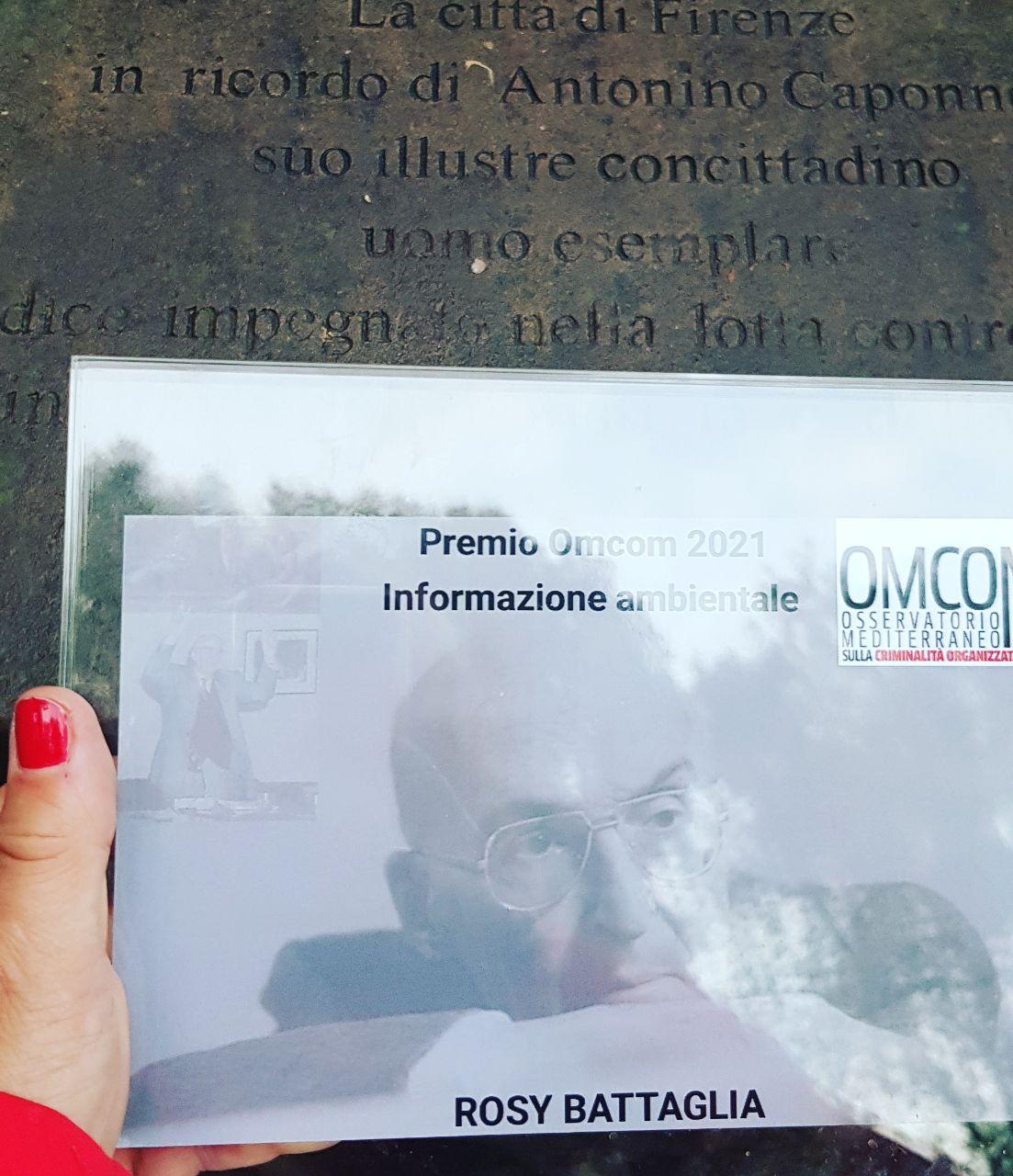 Premio Omcom 2021 per l'informazione ambientale. Il mio grazie alla Fondazione Antonino Caponnetto